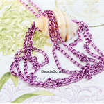 1.5m Purple unfinished chain no clasp 6mmx3.5mm