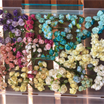 Assorted colours and sizes paper flowers