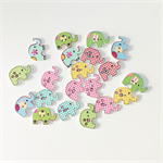 Assorted elephant wood buttons