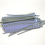 Blue White {100} Twist Ties | Stripe Ties | Bread Twist Ties | Christmas Wrap