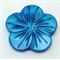 Blue Shell Flower Shaped Buttons