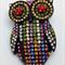 Needle Minder - Multi Coloured Crystal Owl - OWL0001M