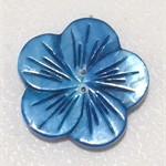 Needle Minder - Natural Shell Blue Flower