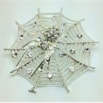 Needle Minder - Spider Web with Crystals