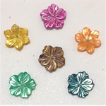Needle Minder - Natural Shell Multi-coloured Flowers