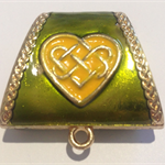 Scissor and Needle Minder - Enamel Celtic Design - Lime