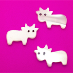 Freshwater Mother of Pearl Carved Cows