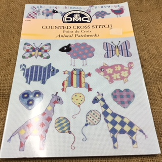 DMC Counted Cross Stitch Booklet with Animal Patchworks