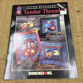 Leaflet - Tender Threads by Ellen Stouffer (3 cross stitch designs)