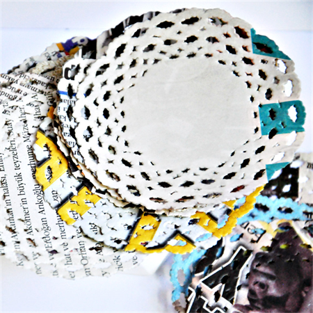 Newspaper Print {20} Paper Doilies | Paper Doilies | Recycled Vintage Style