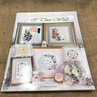 "Cross Stitch Book called ""I Thee Wed"" by Cross My Heart Inc."