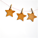 Large Kraft Star Tags {10} | Star Tags | Blank Kraft Tags | Christmas Star Tags