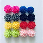 16 Resin Flower Cabochons 8 pairs