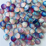 50 Resin Mermaid Cabochons