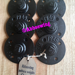 Sewing Pattern Weights - set of 6 black weights
