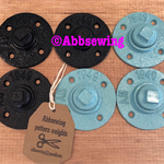 Sewing Patter Weights - set of 6 weights black and aqua mix