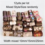 Mix style and sizes satin ribbon Christmas Wedding DIY