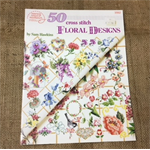 Book - 50 Cross Stitch Floral Designs by Sam Hawkins