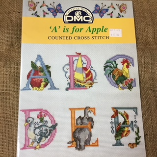 "Book - Cross Stitch DMC ""A"" is for Apple"
