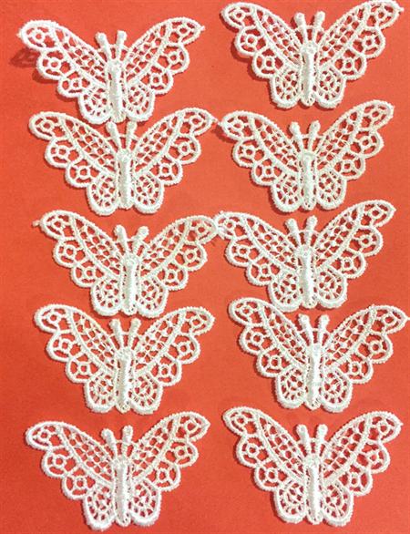 10 Lace Butterflies