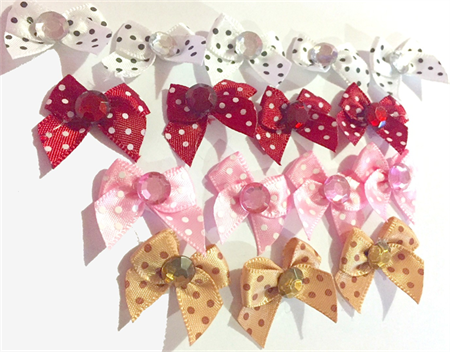 16 Mixed Dotted Bows