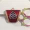 Scissor and Needle Minder - Enamel Celtic Design - Green