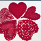 5 Red Heart Motifs