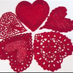 5 Red Heart Motifs
