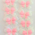 8 Puffy Satin Butterflies