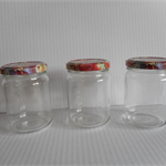 Glass jars new with lids x 24