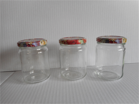 Glass jars new with lids x 48