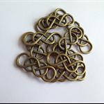 Bronze Double Infinity Charms x 10