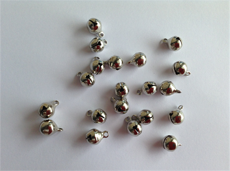 Silver tone Bell Charms x 20 pcs