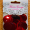 Red 25mm sequins - Maria George brand