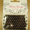 Chocolate 6mm pearls - Maria George brand