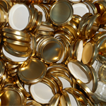 300 jam jar lids 63 mm Gold