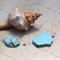 2 Turquoise Howlite freeform Slab Pendant beads