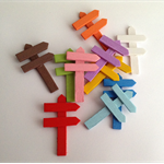 Miniature Fairy Garden Doll House Wooden Sign Post x 10pcs