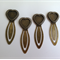 Bronze Heart Lace Setting DIY Bookmark Clips x 4