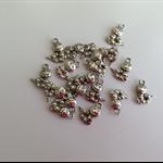 Silver Tone Caterpillar Charms x 18 pcs