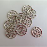 Silver Plated Locket Backplate Anchor Design x 10 pcs