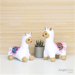 Alpaca Twin Softies Sewing Pattern PDF Stuffed Animal Pattern