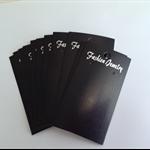 Earring Jewellery Display Black Cards x 20pcs