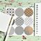 Japanese Print Gold Foil  Transparent Seals   Round Gold Stickers Seals