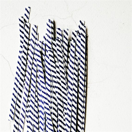 Black Blue White {50} Twist Ties | Stripe Ties | Bread Twist Ties | Christmas
