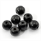 50 Black 16mm Round Wooden Beads