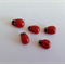 Ladybug Ladybird Red Miniature for Fairy Garden Card Making Self Adhesive x 5pcs