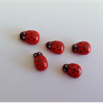 Ladybug Ladybird Red Miniature for Fairy Garden Card Making Self Adhesive x 5pcs