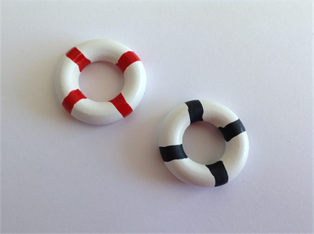 Miniature Life Buoy for Doll House x 2pcs