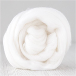 Merino wool tops / roving 19 micron – Snow - 50 gm